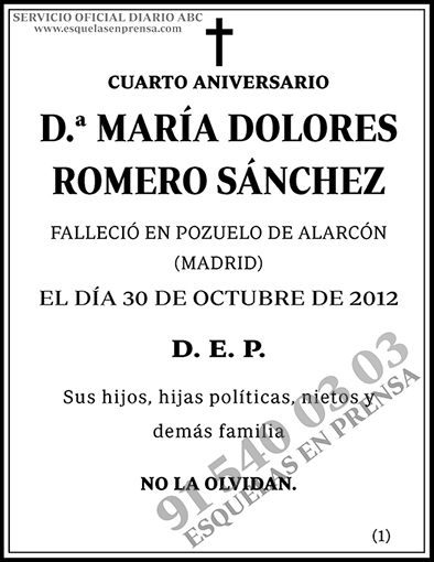 María Dolores Romero Sánchez